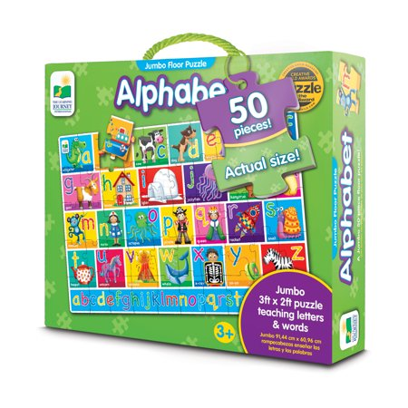 The Learning Journey Jumbo Floor Puzzles, Alphabet Floor Puzzle Construction Duty Floor Puzzle