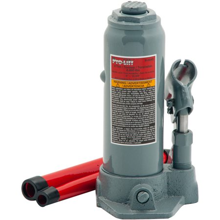 - Pro-Lift B-004D Grey Hydraulic Bottle Jack, 4 Ton Capacity