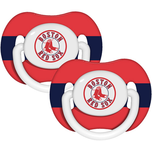 Baby Fanatic MLB 2-Pack Baby Pacifiers, Boston Red Sox