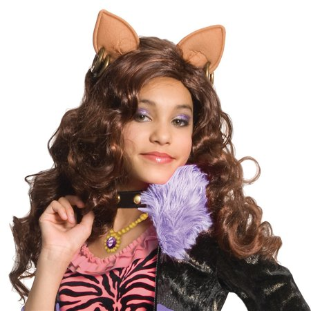 High End Halloween Costumes Toddler (Clawdeen Wolf Wig Child Costume)