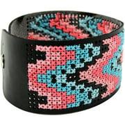 Faux Leather Bracelet Punched-8X1.5 Black