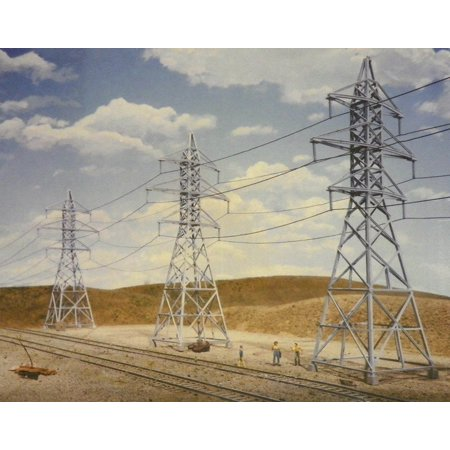 Walthers Cornerstone HO Scale Building/Structure Kit Power Transmission Towers Ho Scale Working