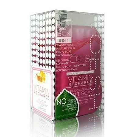 Voesh Pedi In A Box Kit: Vitamin Recharge Pedicure Treatment (Pedicure Treatment)