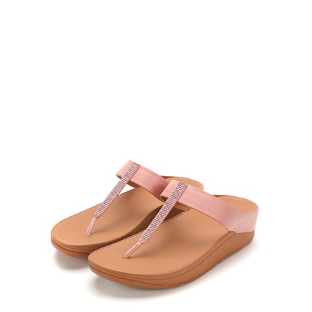 04e8d4fbb FitFlop - FitFlop Women s Fino Crystal Toe-Thong Sandals L25-535 ...