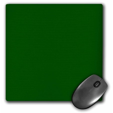 3Drose Dark Bottle Green   Plain Simple One Single Solid Color   Hunter Green  Mouse Pad  8 By 8 Inches