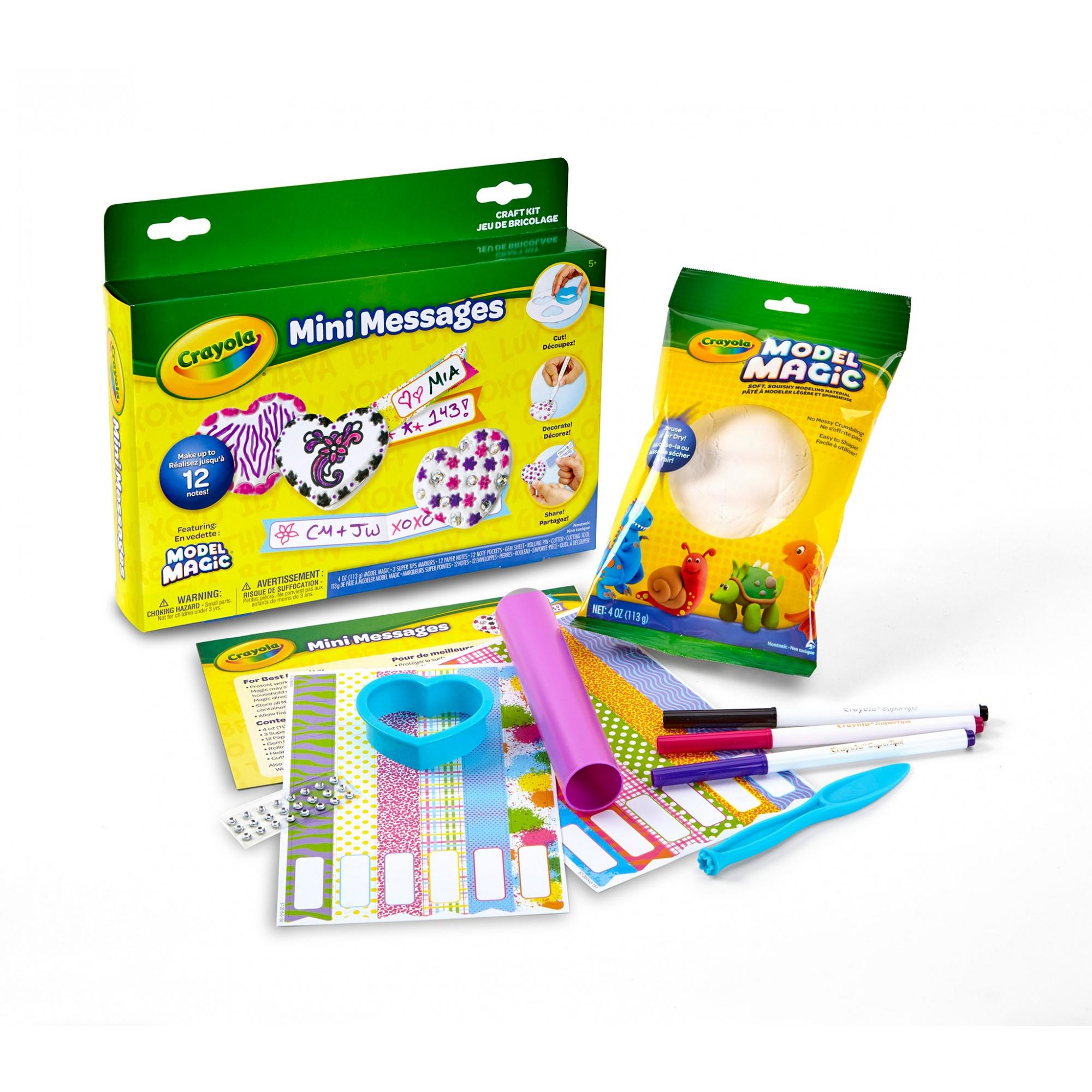 Crayola Model Magic Mini Messages, Valentines Day Craft Kit, Gifts