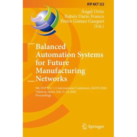 Balanced Automation Systems for Future Manufacturing Networks: 9th IFIP WG 5.5 International Conference, BASYS 2010, Valencia, Spain, July 21-23, 2010