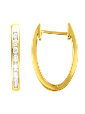4db26b87d Product Image 1/4 cttw Diamond Hoop Earrings, 14kt Yellow Gold