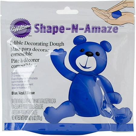 Wilton Shape-N-Amaze Edible Cake Decorating Dough, Blue 6 oz  707-156