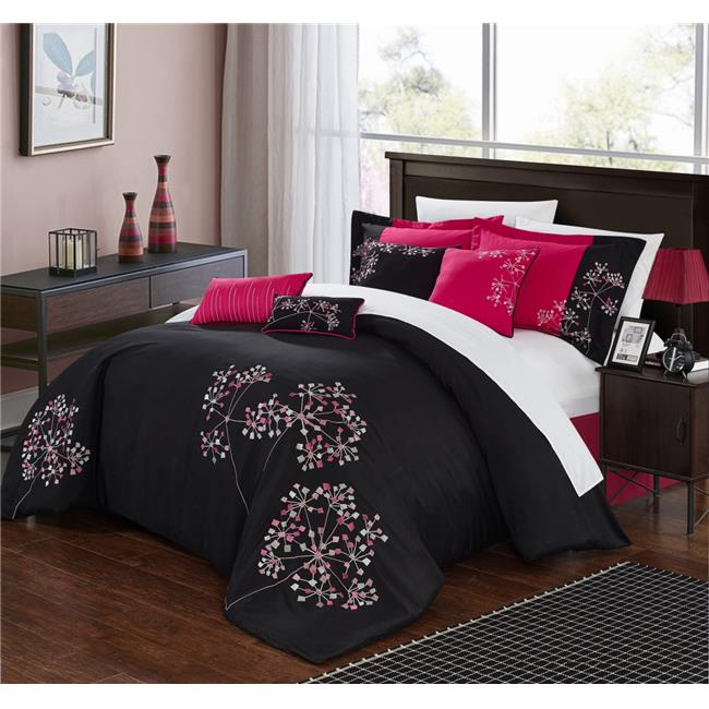 Chic Home 33-91-K-12-US Sydney Bed in a Bag Embroidered C...