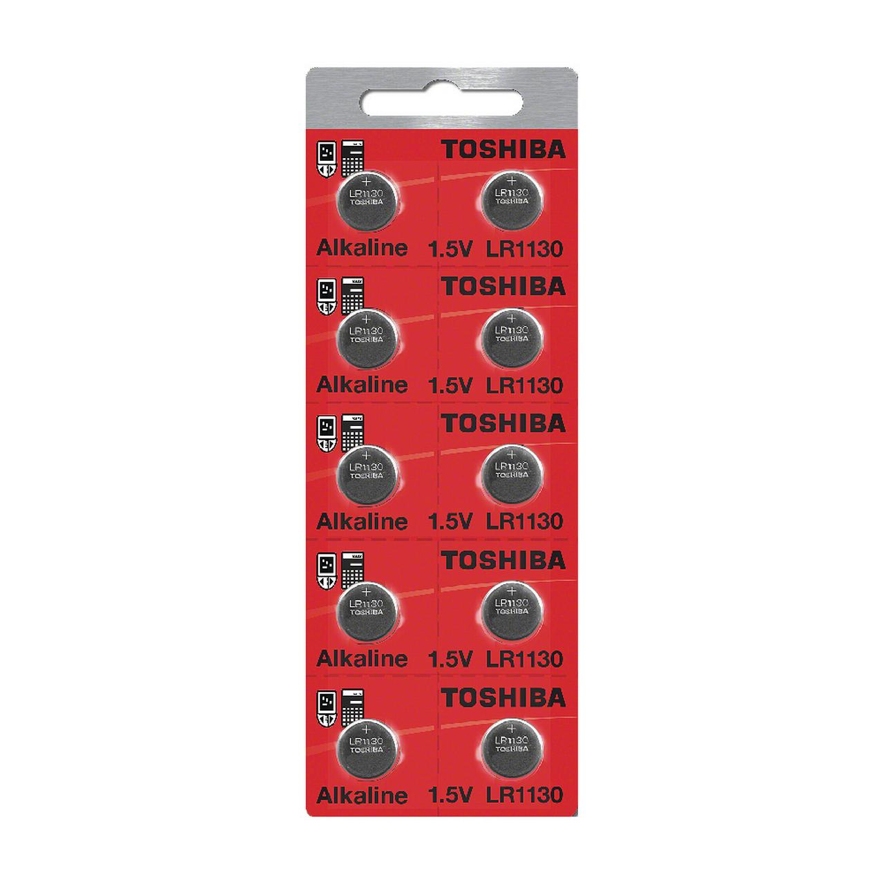Toshiba 1130 189 Alkaline 1.5 Volt Batteries 10 Count