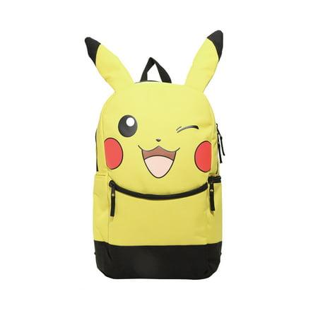 Pokemon Pikachu Winking  Character Backpack