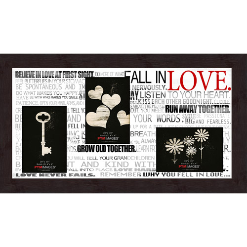 "Fall In Love VIII 20"" x 10"" Collage Picture Frame"
