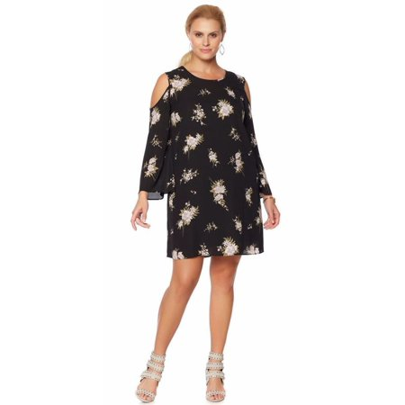 G by GIULIANA Cold-Shoulder Printed Dress WILDFLOWER PRINT Size 16W
