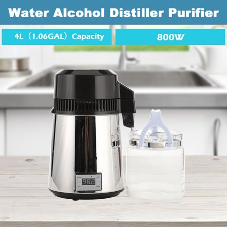 800W 4L Water/ Wine Distiller Purifier Premium Countertop Stainless