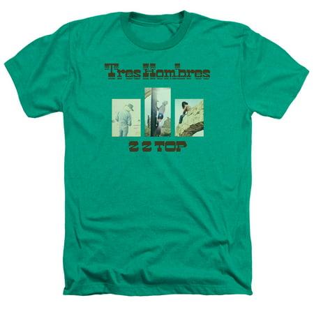 ZZ Top Tres Hombres Mens Adult Heather T Shirt