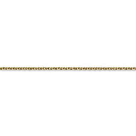 14k Yellow Gold 1.8mm Solid Link Cable Chain Anklet Ankle Beach Bracelet Fine Jewelry For Women Gifts For Her - image 7 of 9