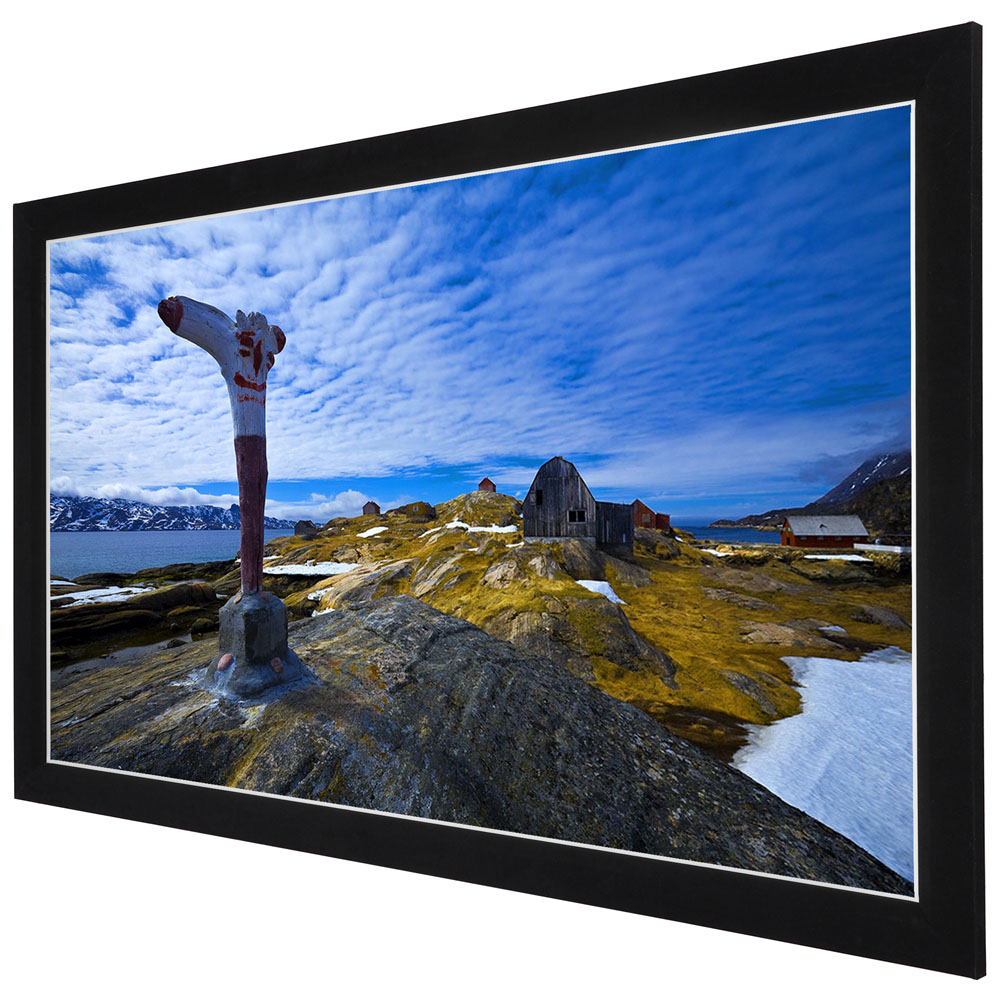 """Yescom 100"""" Diagonal 16:9 HD Fixed Frame Projector Screen 87""""x49"""" Viewing Area w  3""""... by Yescom"""