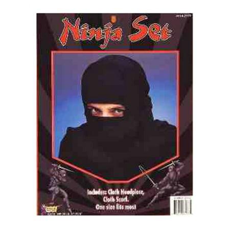 Adult Black Fabric Executioner Balaclava Costume Ninja Hood Mask