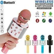NEW Handheld Wireless Bluetooth Karaoke 858 Microphone USB KTV Player MIC Speaker