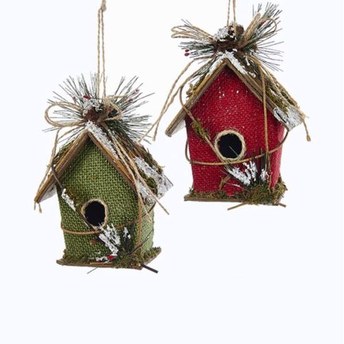 1 Set 2 Assorted Paperboard Birdhouse Ornaments