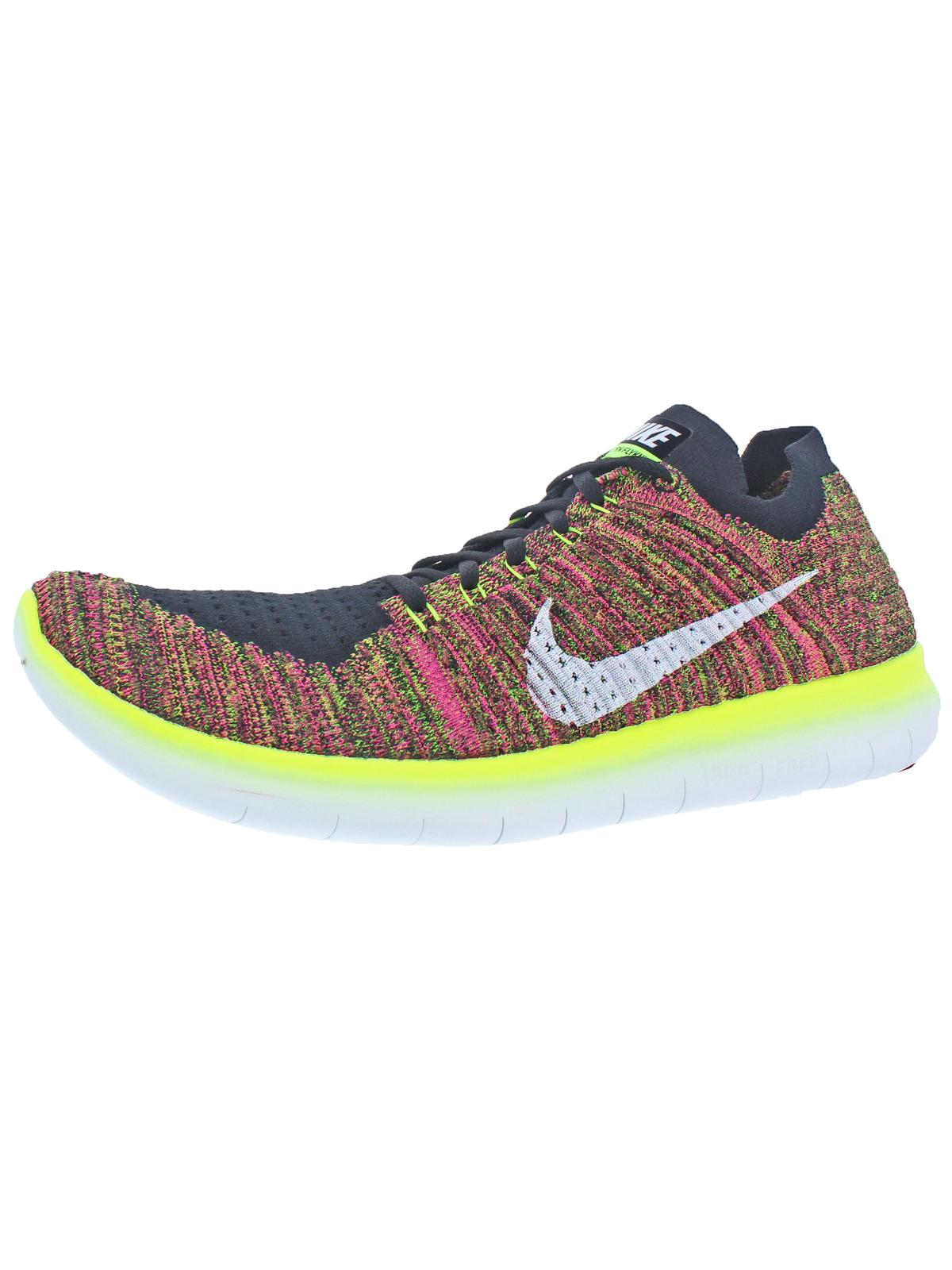 Nike Mens Free RN Flyknit OC Lightweight Running Shoes Multi 15 Medium (D)