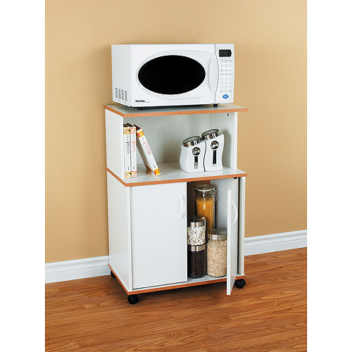 Microwave Cart, White