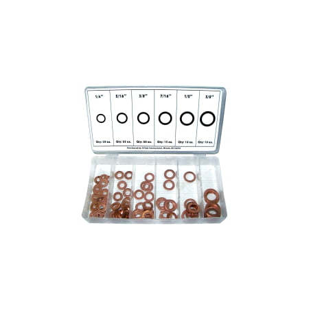 Washer Assortment Copper 110