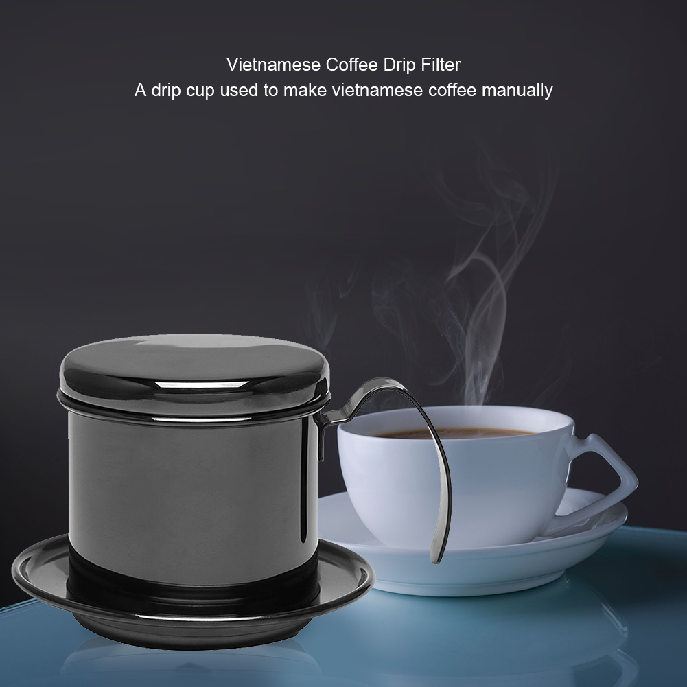 Ylshrf Stainless Steel Cup Vietnamese Coffee Drip Filter Maker Infuser Home Stainless Steel Coffee Filter Coffee Drip Filter Walmart Com Walmart Com