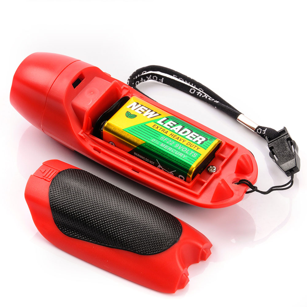 Fox 40 Electronic 3 Tone Whistle with Adjustable Wrist Lanyard Red and Black
