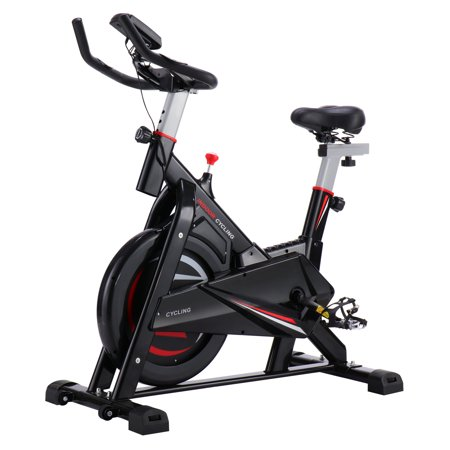 Spinning Belt (Exercise Bikes on Clearance, Indoor Cycling Exercise Bike Cycling, w/30 lb Flywheel, Belt Drive & LCD Monitor with Pulse, Professional Exercise Bike for Home and Gym Workout Use, S10647 )
