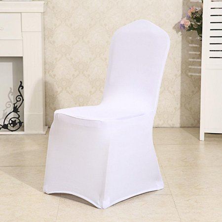 Big Clearance! 100 PCS Universal Spandex Chair Covers for Wedding Supply Party Banquet Decoration,Folding Banquet Chair Cover White - Luau Party Supplies Clearance