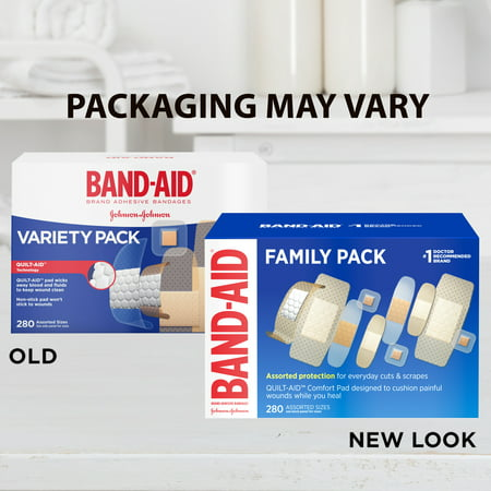 Bandage Case Pack - Band-Aid Brand Adhesive Bandage Family Variety Pack, Assorted Sizes, 280 ct
