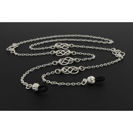 Handcrafted Old Indian Jewelry (Womens Fashion Eye Glasses Necklace Chain with Handcrafted Silver Celtic Knots, Fits Most Glasses)