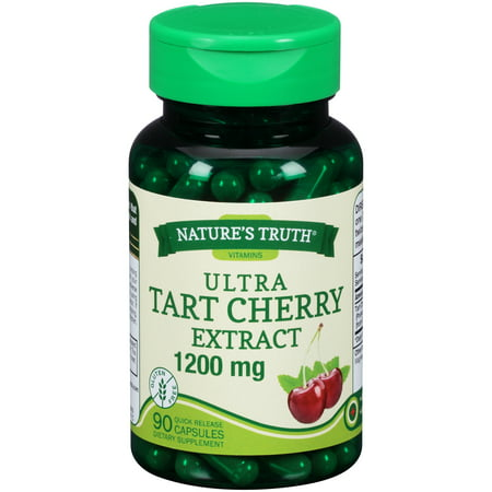 Health Cherry (Nature's Truth® Ultra Tart Cherry Extract 1200mg Dietary Supplement Quick Release Capsules 90 ct Bottle )