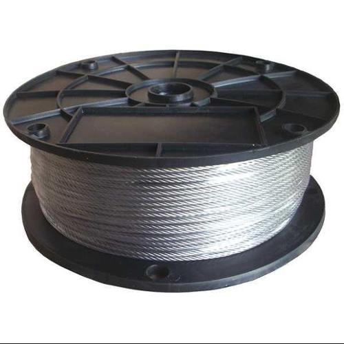 DAYTON 33RG70 Cable, 1/16 in., 250 ft., 7 x 7, SS
