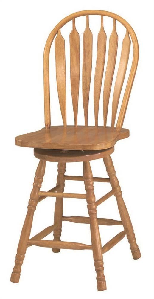 Home Styles Solid Wood Bar Stool 29 Quot Oak Finish Walmart Com