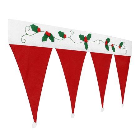New Year Santa Claus Hats Curtains Window Valance Christmas Decorations Christmas Curtain Decor Ornaments Red (90*42cm) - image 1 de 7