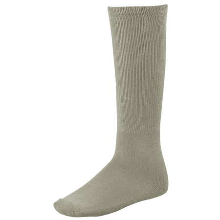 Twin City Team Sock Solid Adult Size 9-12 Lite Gray