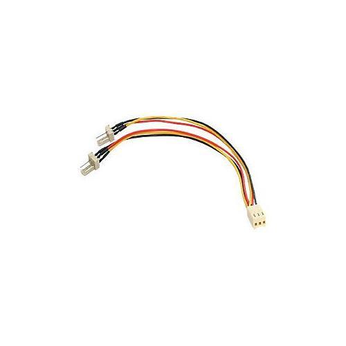 StarTech.com TX3 Fan Power Splitter Cable - Fan power splitter - 3 pin internal power (F) - 3 pin internal power (M) - 5