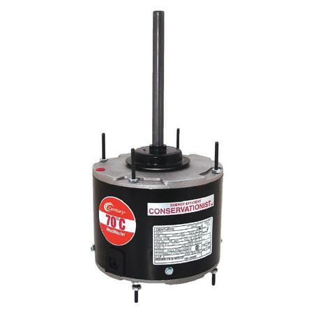 Century 1/6 HP Condenser Fan Motor, Permanent Split Capacitor, 825 Nameplate RPM, 208-230 Voltage, Frame 48Y - FE1018SF (Permanent Split Capacitor Condenser Fan)