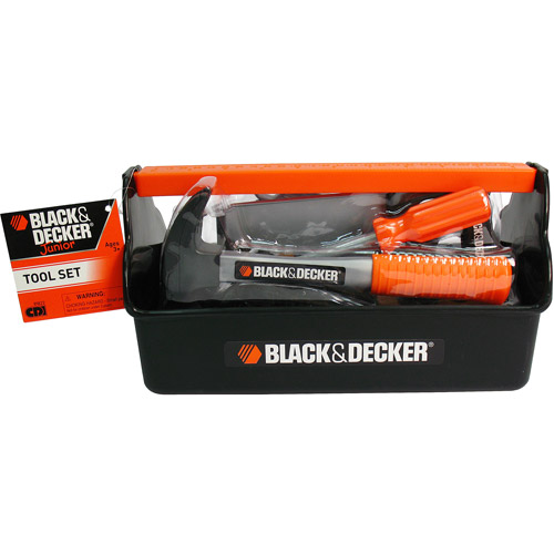 Black & Decker Junior Tool Box with 14 Pieces