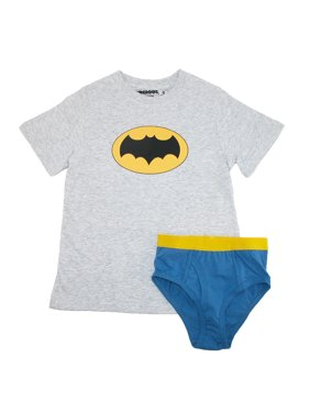 Batman Underoos Boys' Superhero Underwear Shirt Set