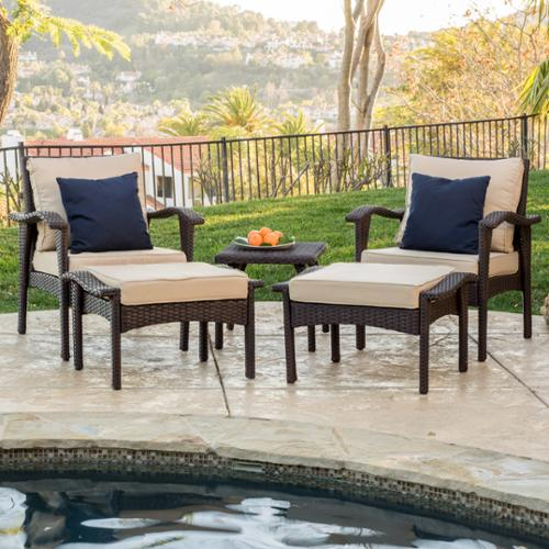 Brisbane Brown 5 Piece Chat Set ()
