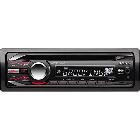 sony xplod cdx gt24w car cd receiver walmart com sony xplod cdx gt24w car cd receiver