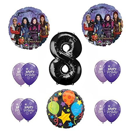 - Disney The Descendants 8th Happy Birthday Party supplies Balloon Decoration Kit