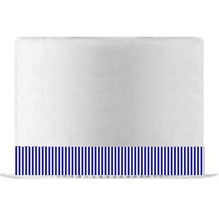 Purple Cake Decorations (Royal Blue and White Stripe Edible Cake Decoration Ribbon -6 Slim)