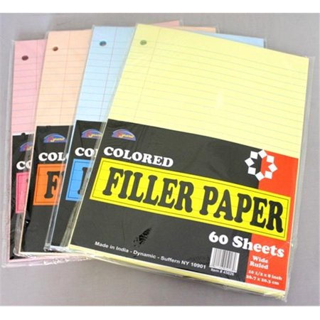 Colored lined paper