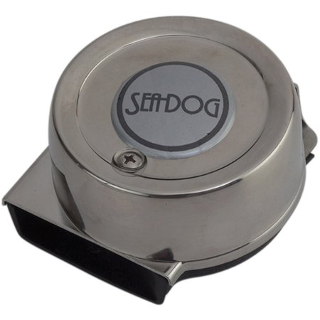 Sea Dog Single Mini Compact Horn, 4 Amp, Stainless Steel