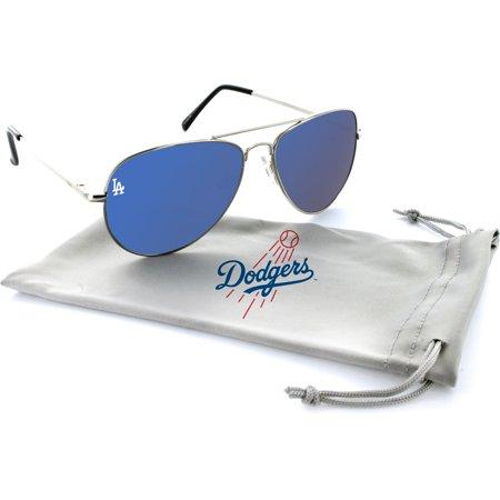 Los Angeles Dodgers Estrada Engraved Aviator Sunglasses - (Dodgers Sunglasses)